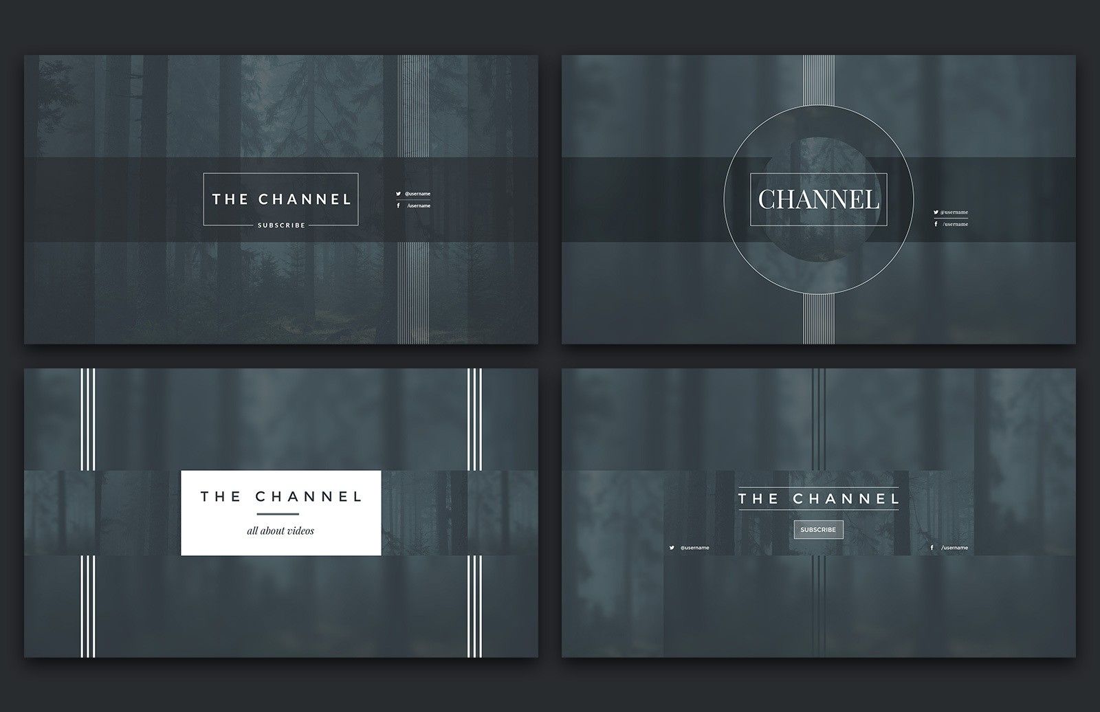YouTube Channel Art Templates 2