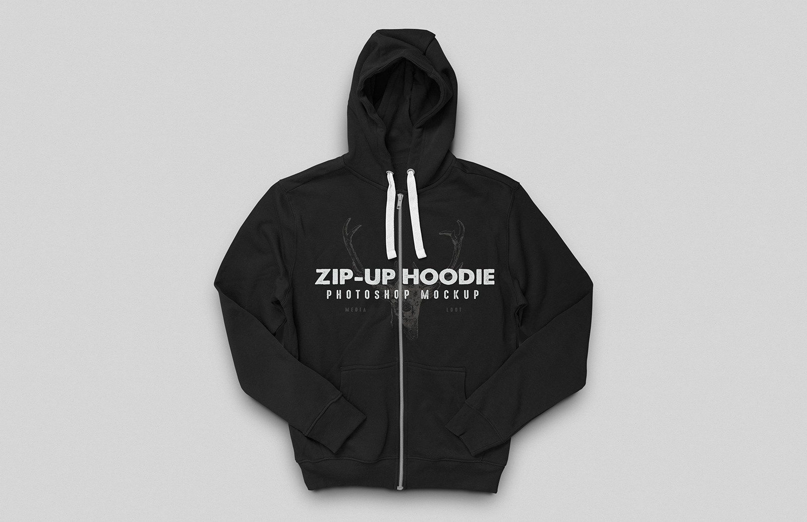 Zip-Up Hoodie Mockup for Photoshop