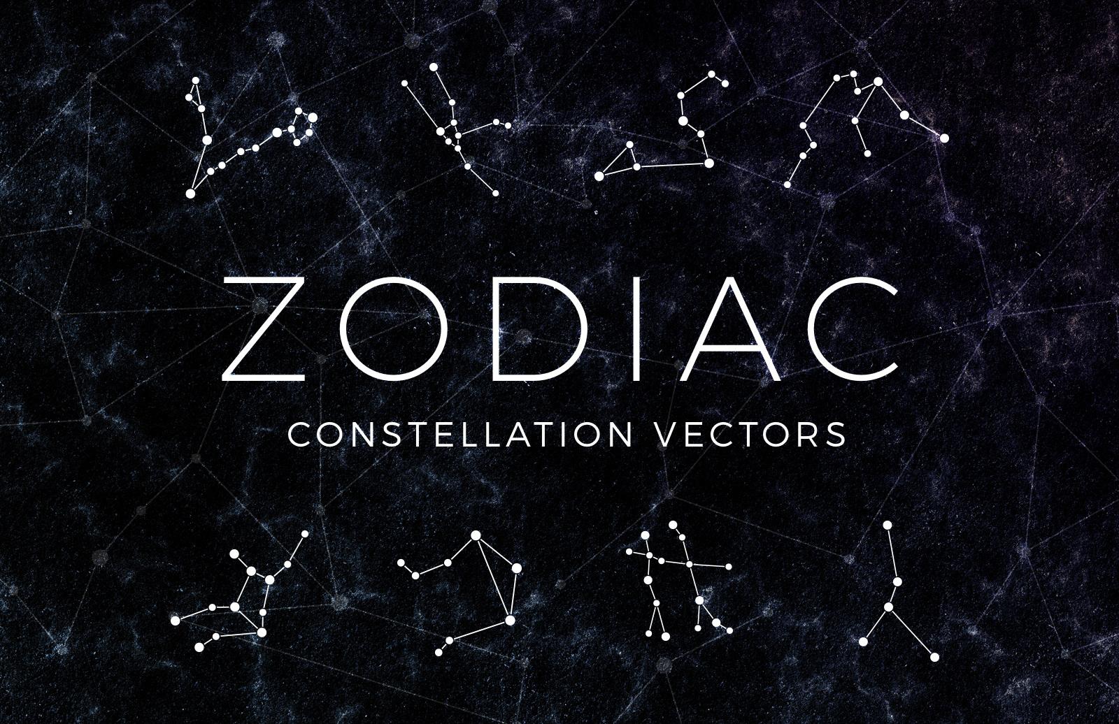 Zodiac Constellation Vectors Preview 1