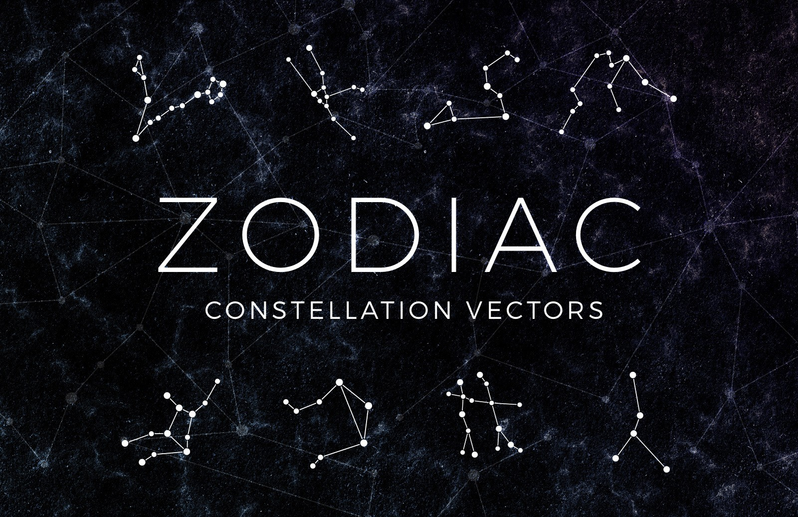 Zodiac Constellation Vectors Preview 1