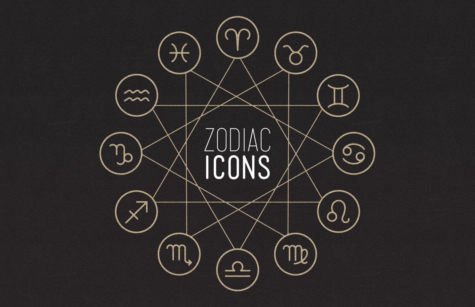 Large Zodiac  Sign  Icons  Preview 1
