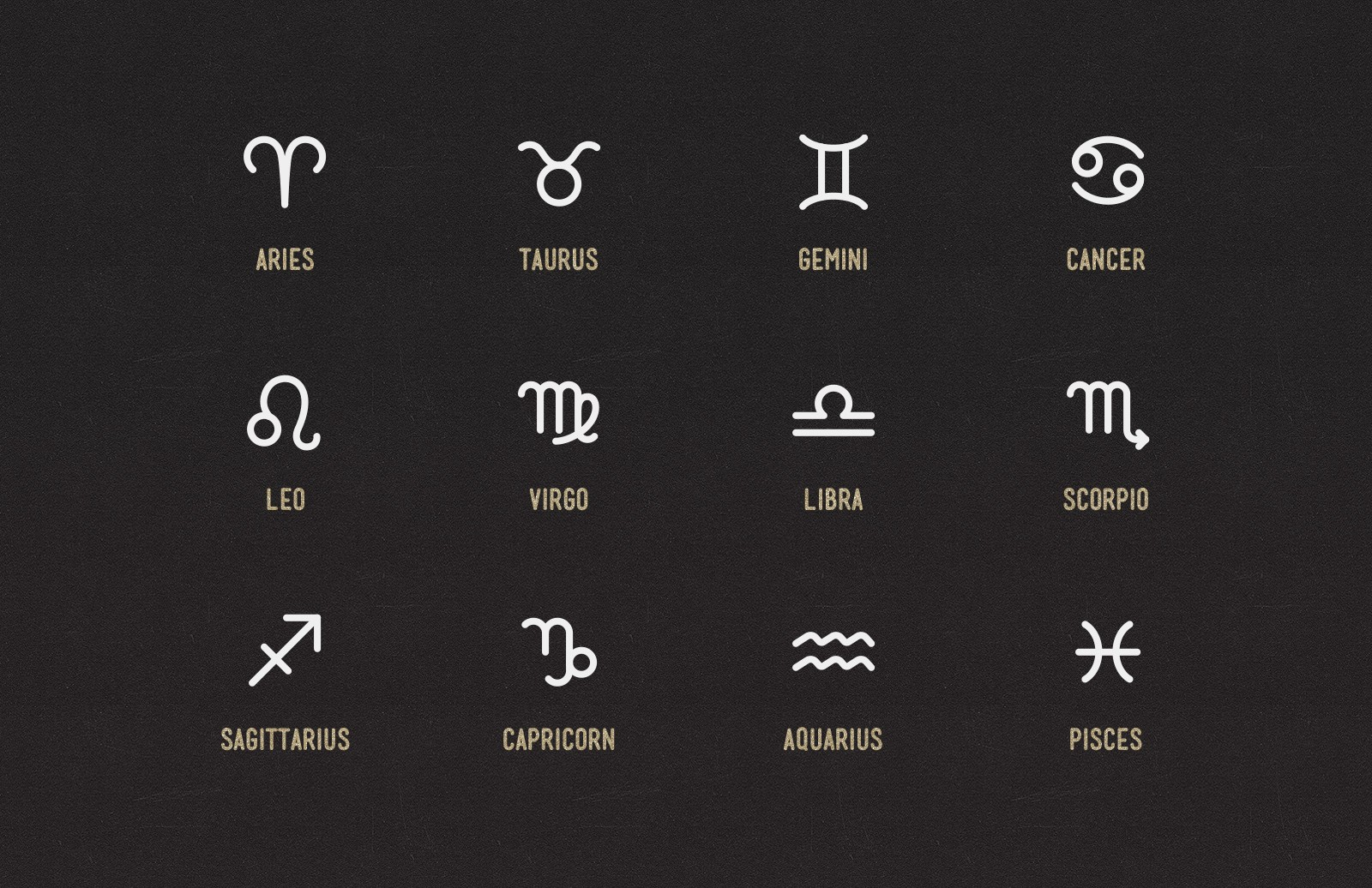 Zodiac Sign Icons 2