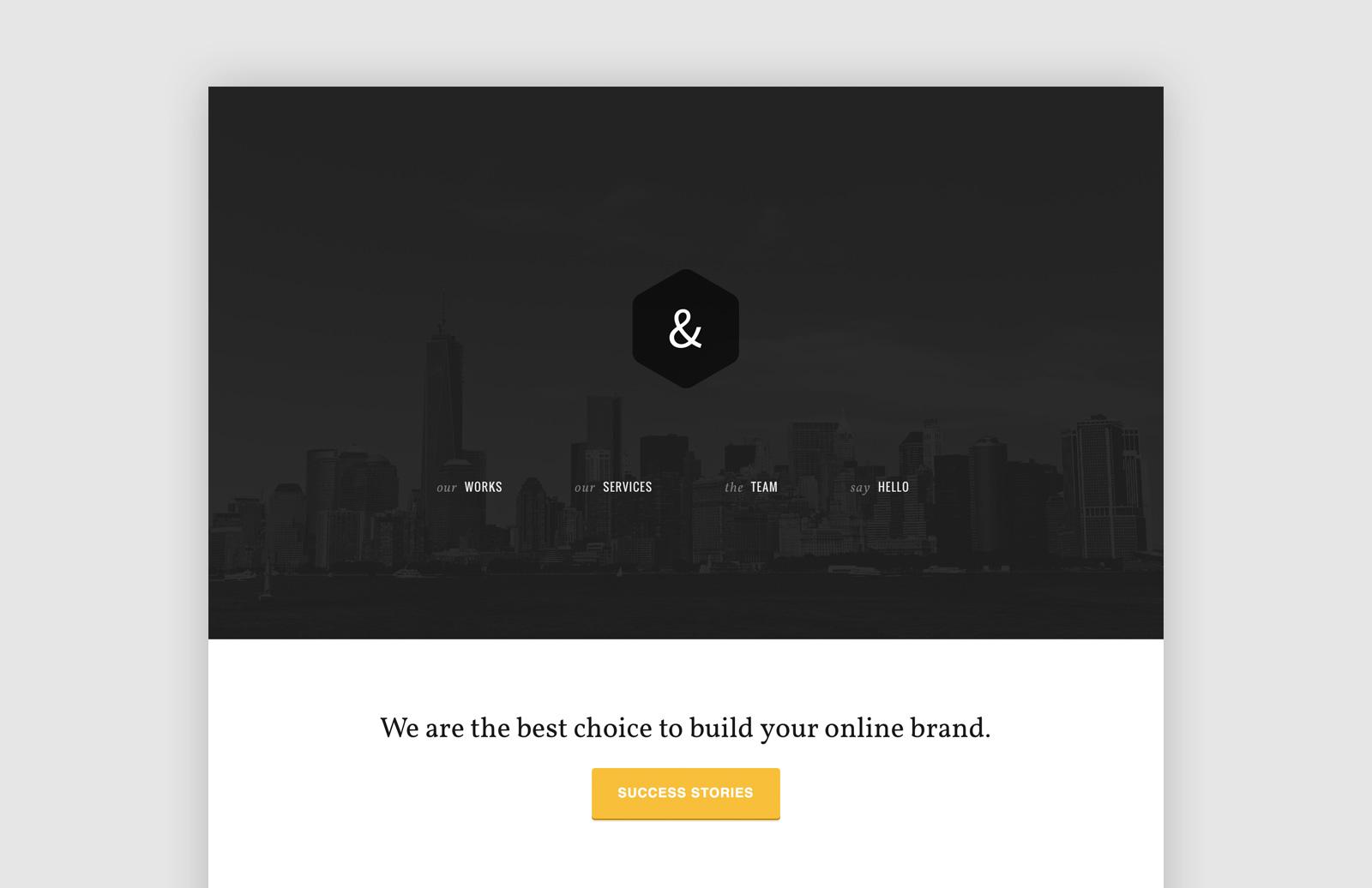 AmpPortfolio - Responsive HTML5/CSS3 theme for agencies 1