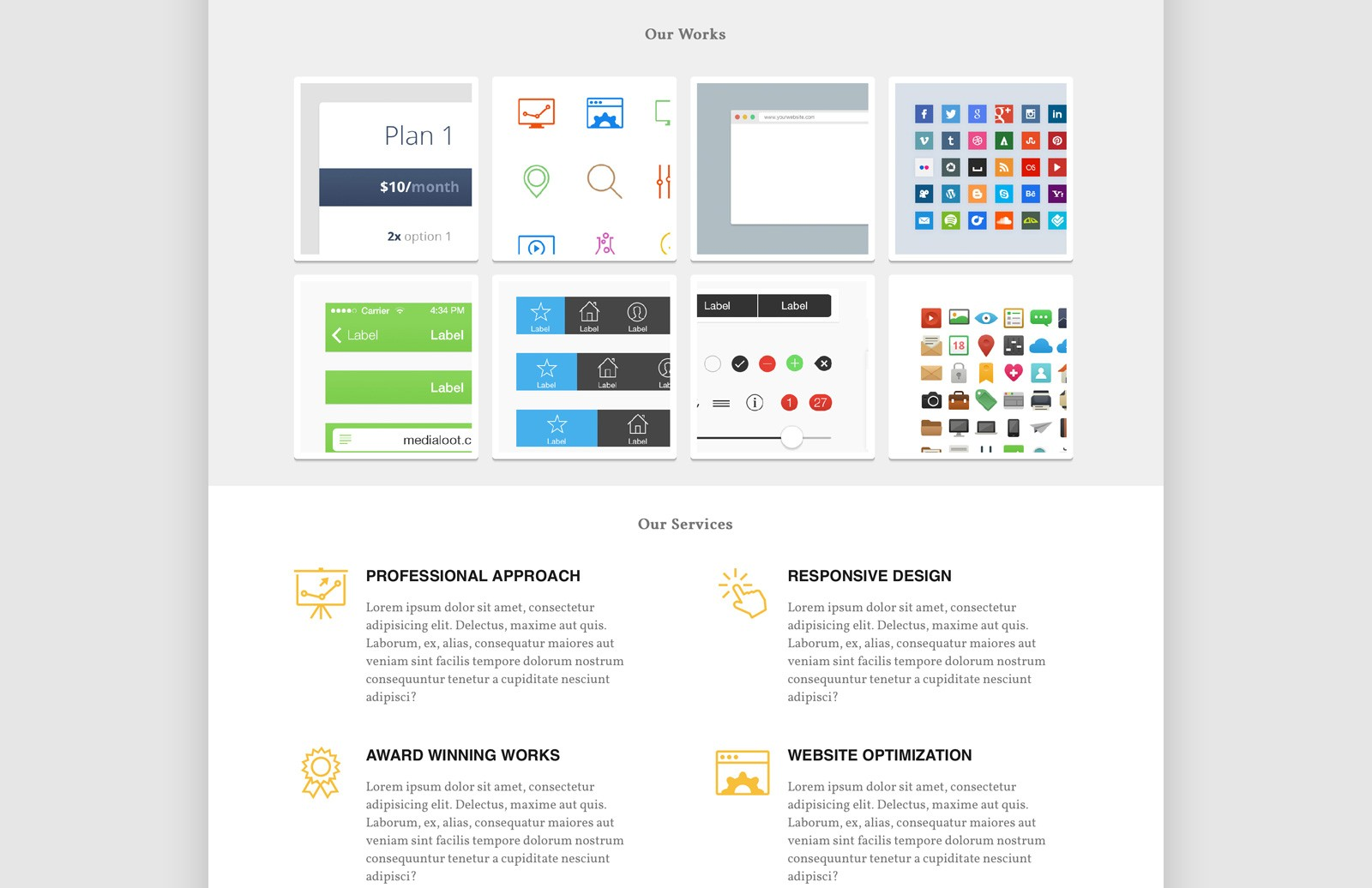 AmpPortfolio - Responsive HTML5/CSS3 theme for agencies 2