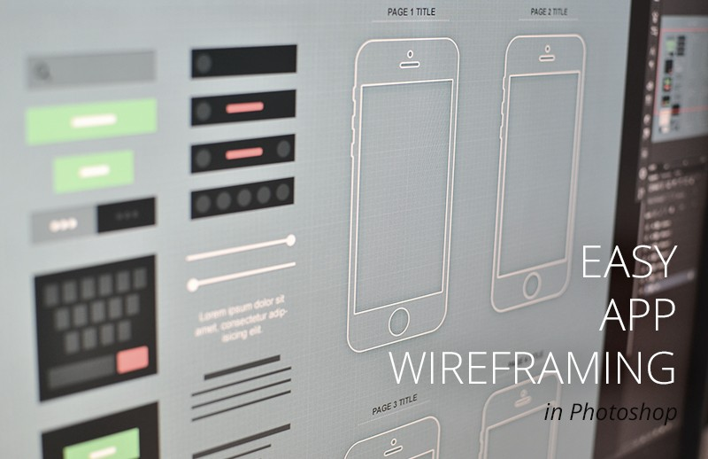 iPhone App Wireframe (.psd)