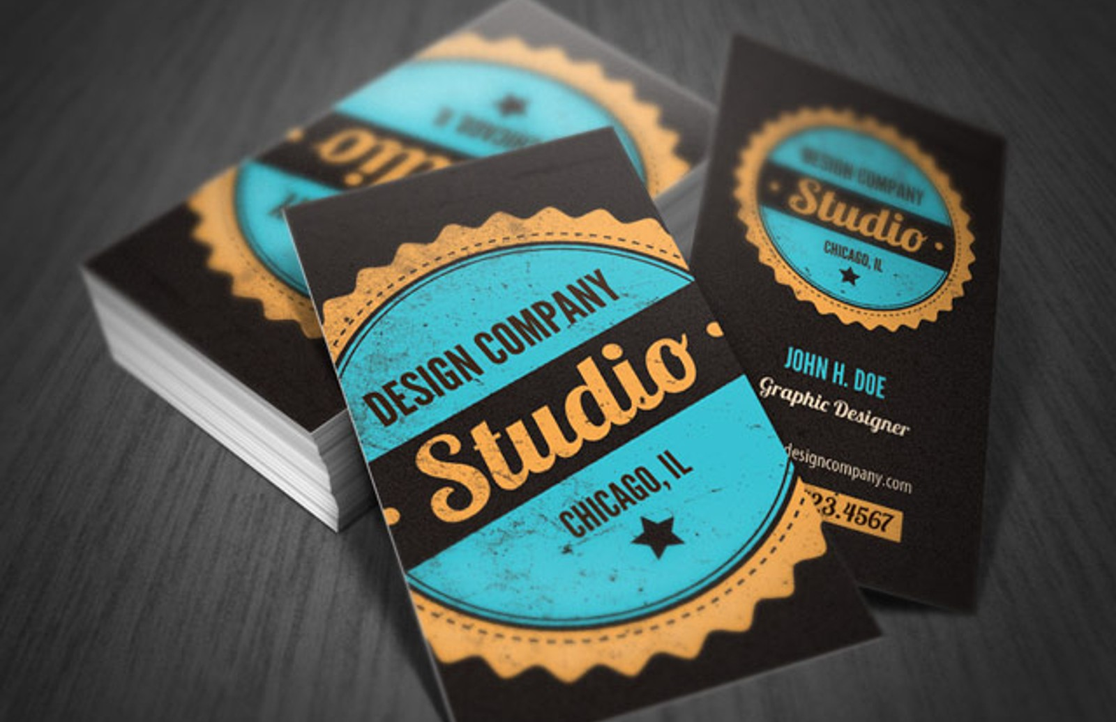 Vintage business card template medialoot bizcard preview1 accmission