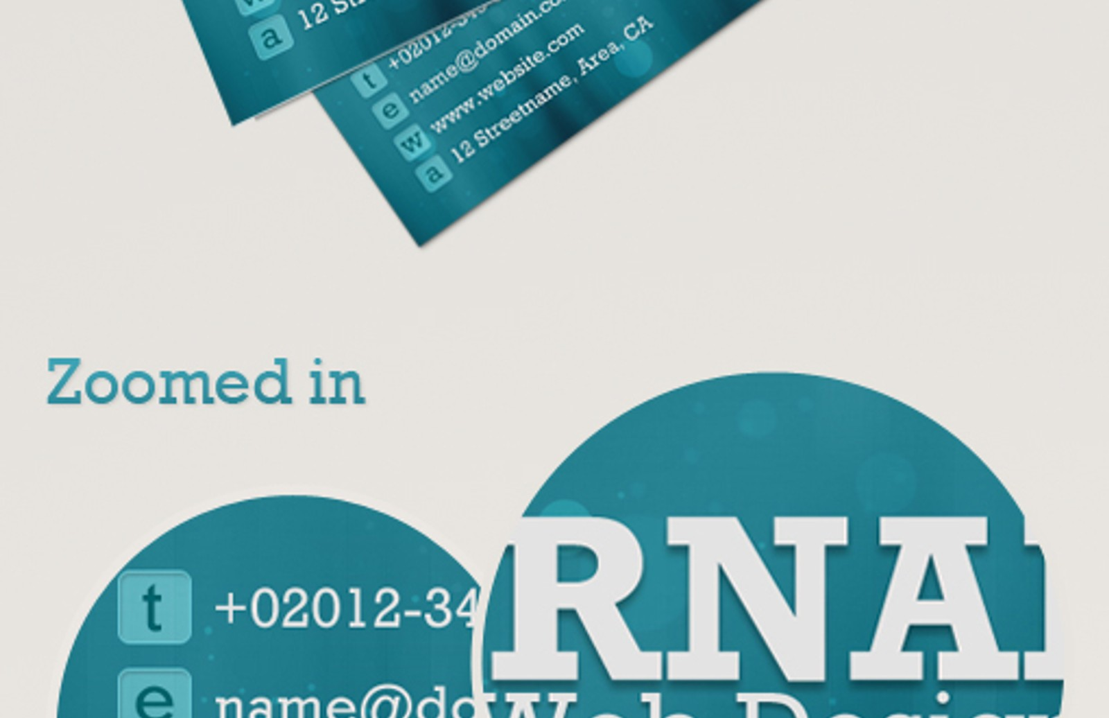 Bokeh Business Cards Preview