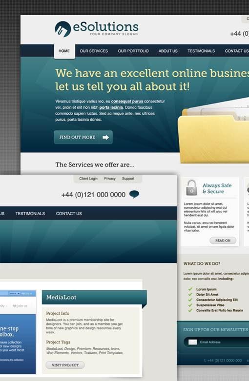 Corporate Business Website Layout