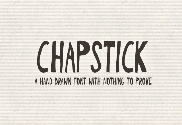 Chapstick Font