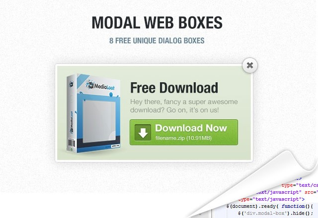 HTML/CSS Modal Web Boxes