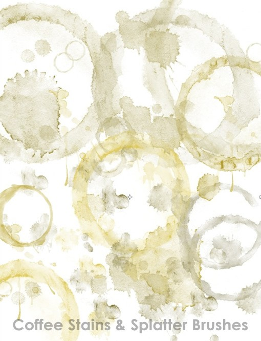 Coffee Stains And Splatter Brushes