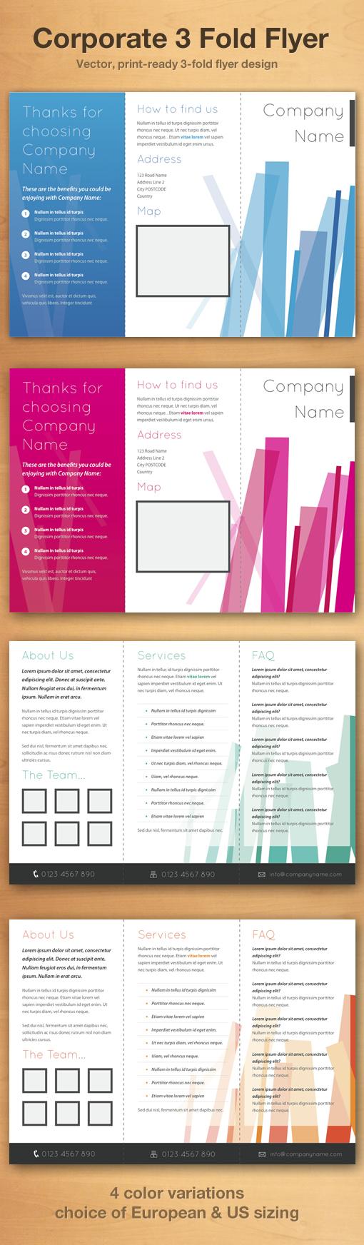 Corporate 3 Fold Flyer Template