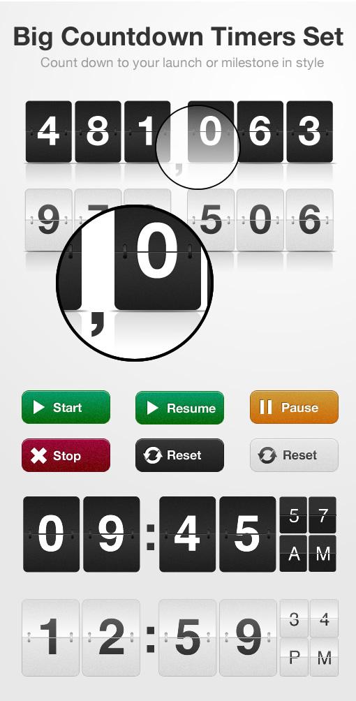 Big Countdown Timers Set