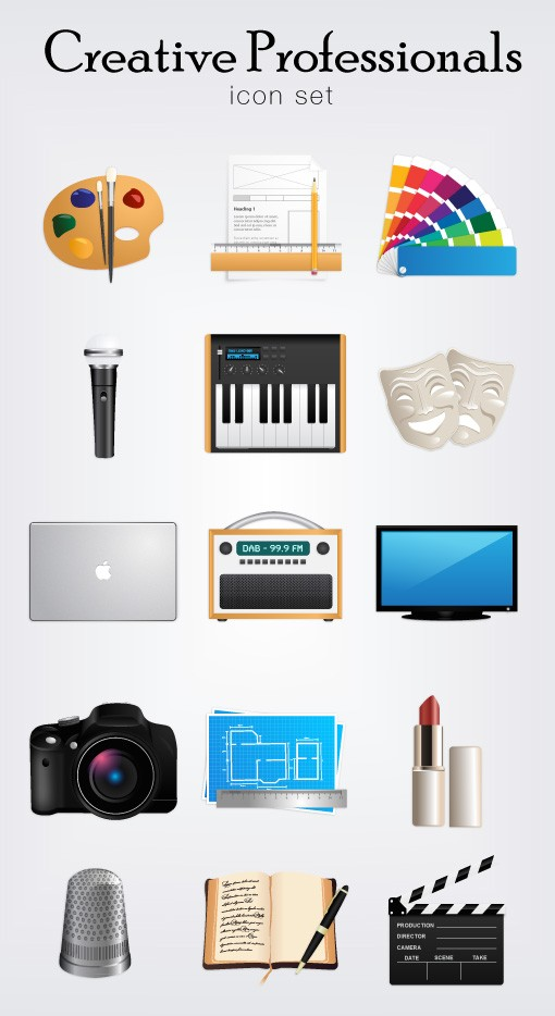 Creative Professionals Iconset
