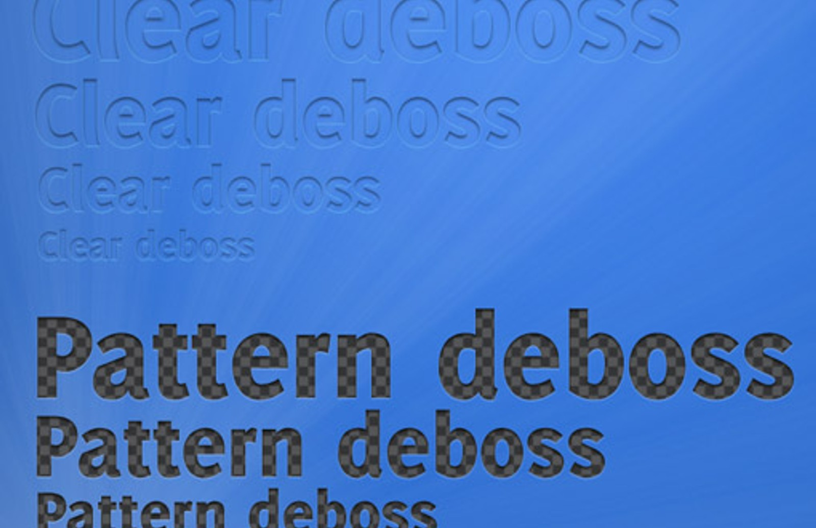 Deboss Text Styles