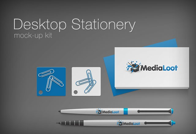 Desktop Stationery Mockup Kit