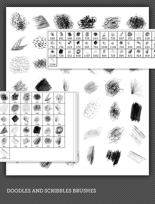 Doodles & Scribbles Photoshop Brushes