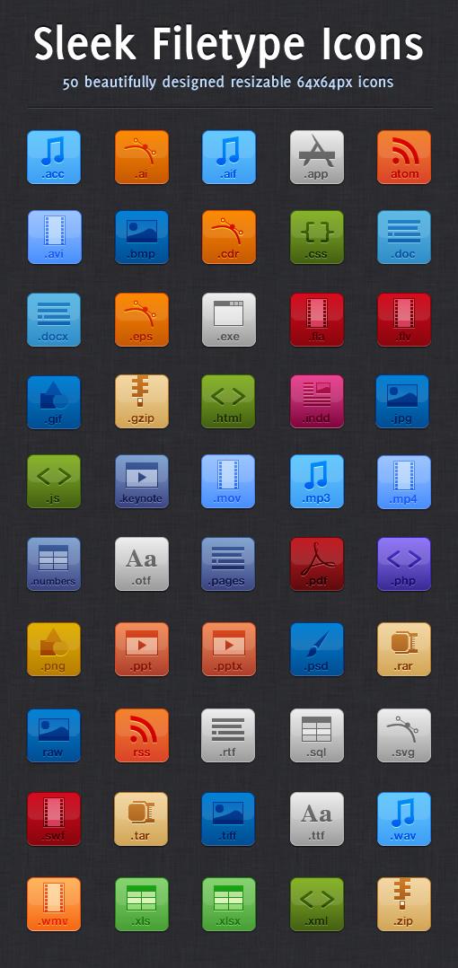 Sleek Filetype Icons 1