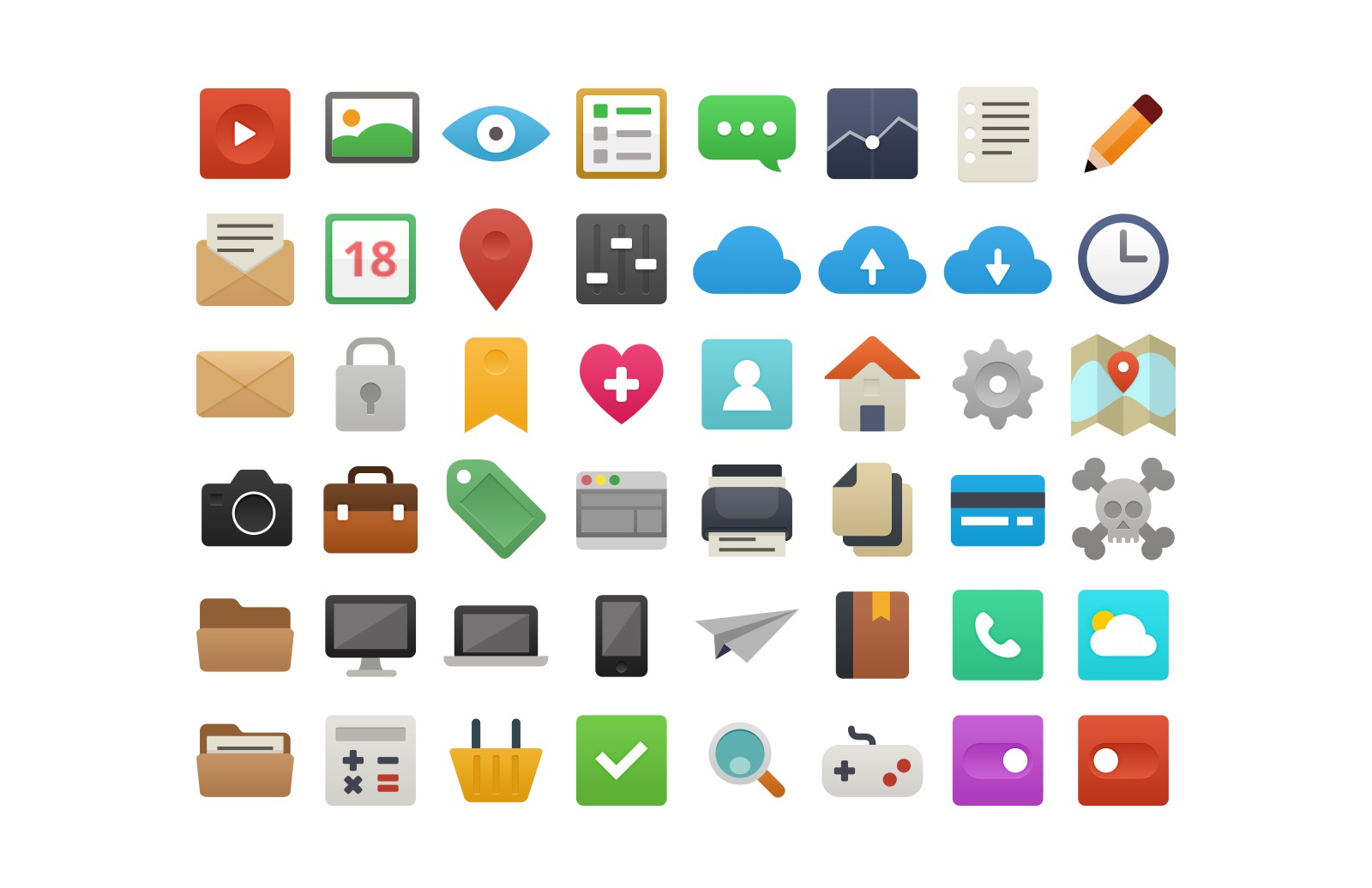 It's Flat! 48 Free Vector Icons 1