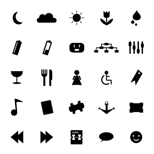 Monochrome Symbols Icon Set 4