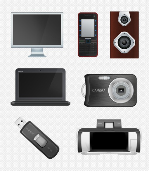 Large Free Tech Home Office Icons