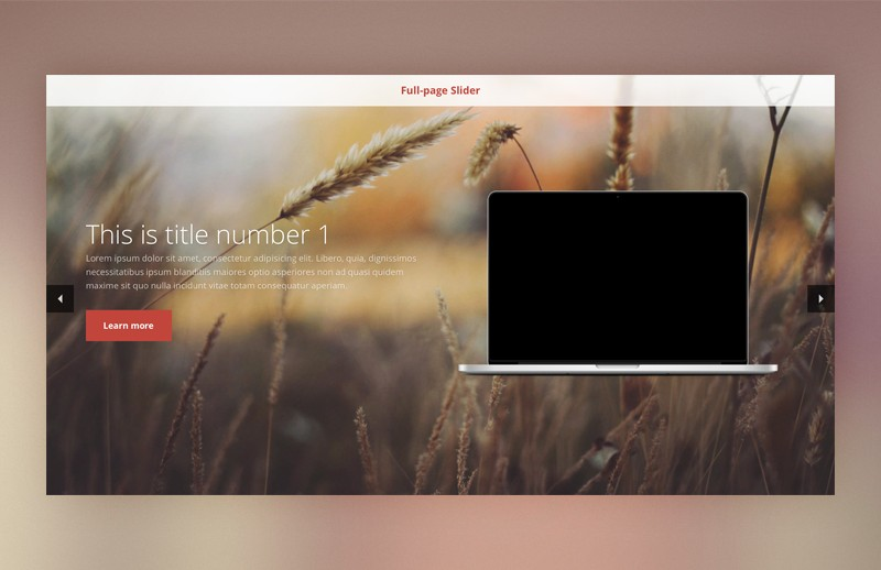 Full-page jQuery slideshow