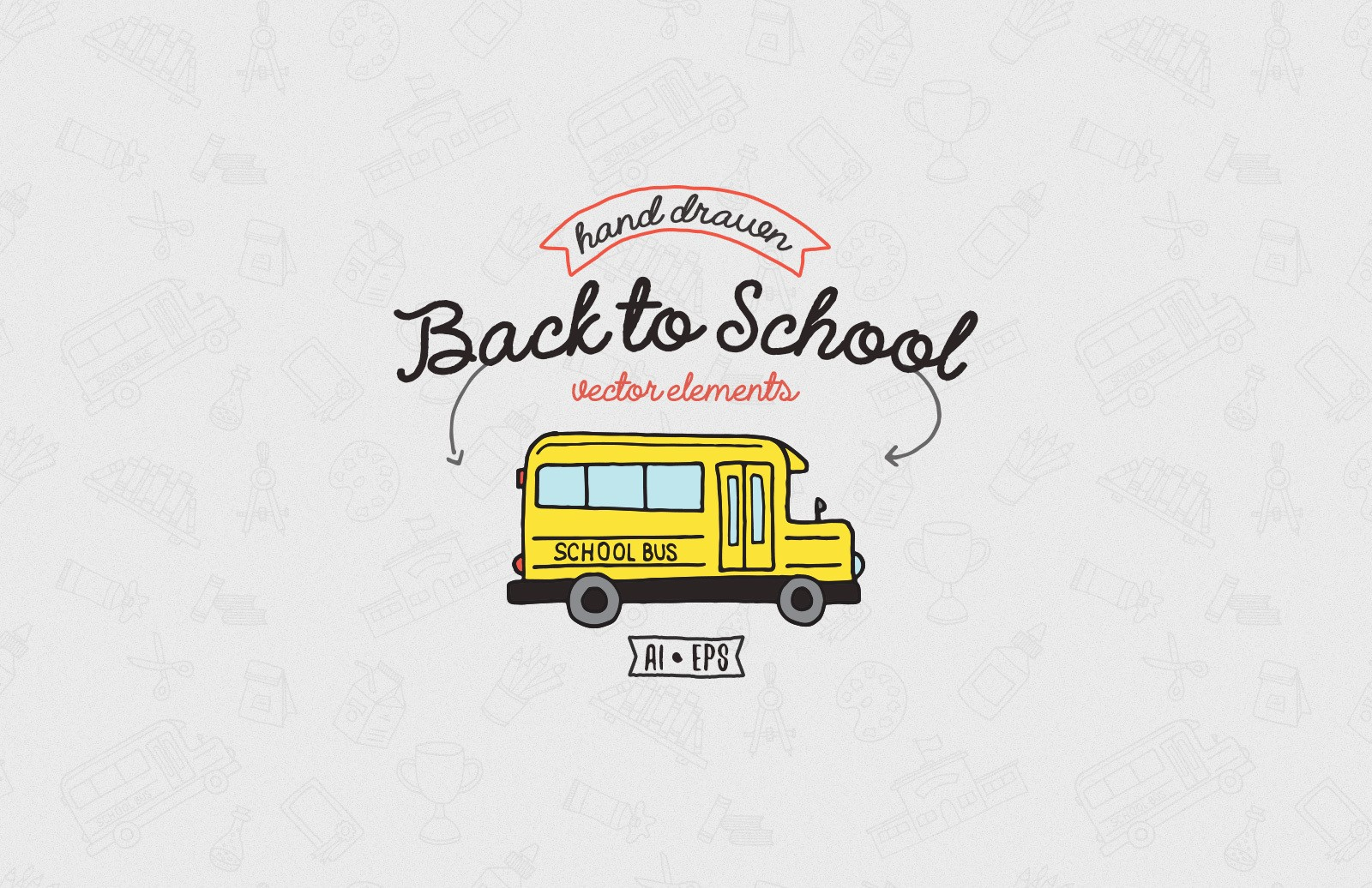 Hand Drawn Back To School Elements Preview 1