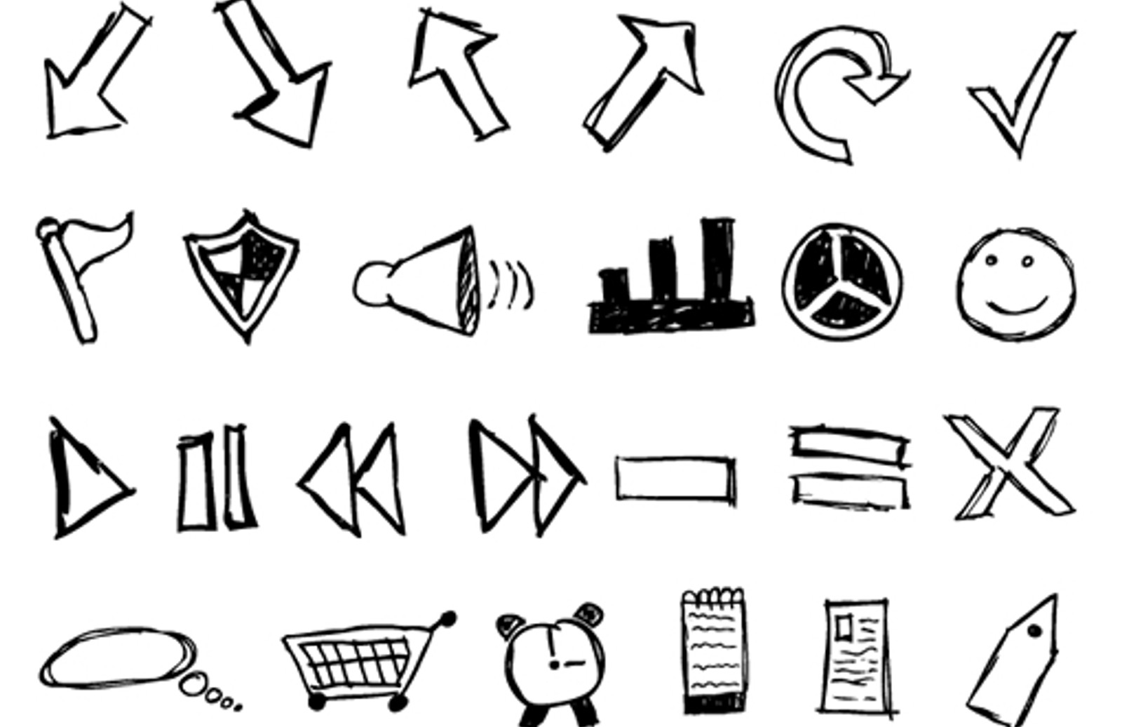 Hand Drawn Sketch Icons Part 2