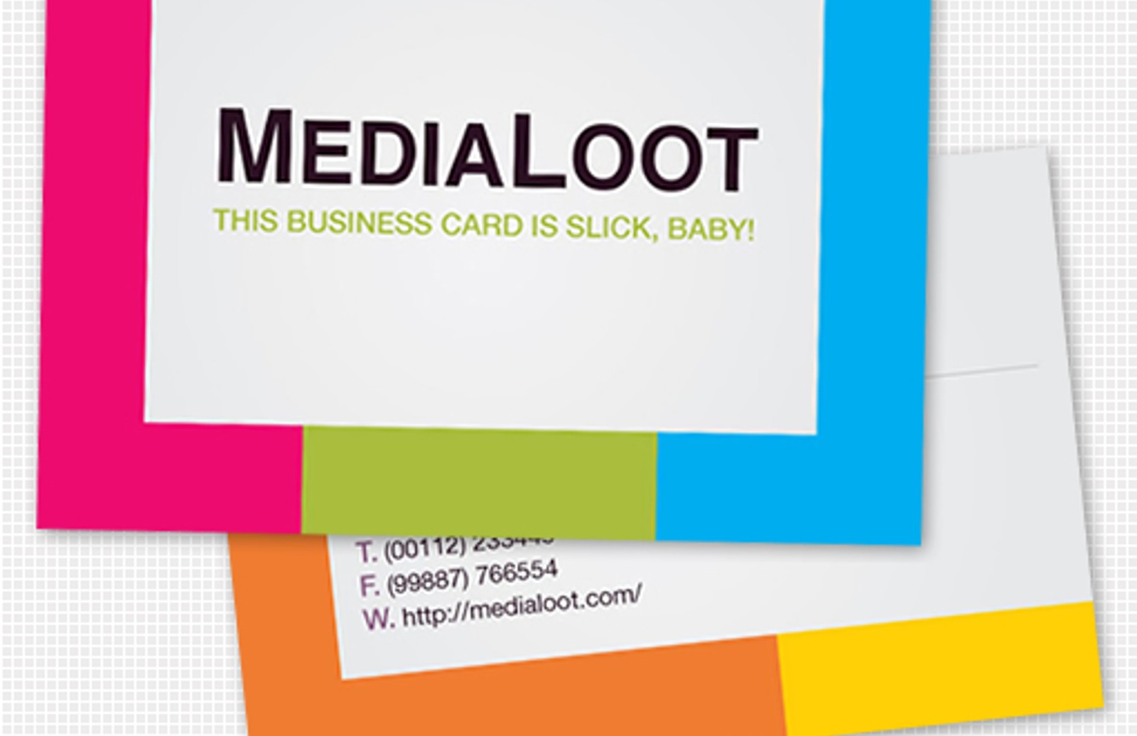 Colorful business card template medialoot happy card preview510 magicingreecefo Choice Image