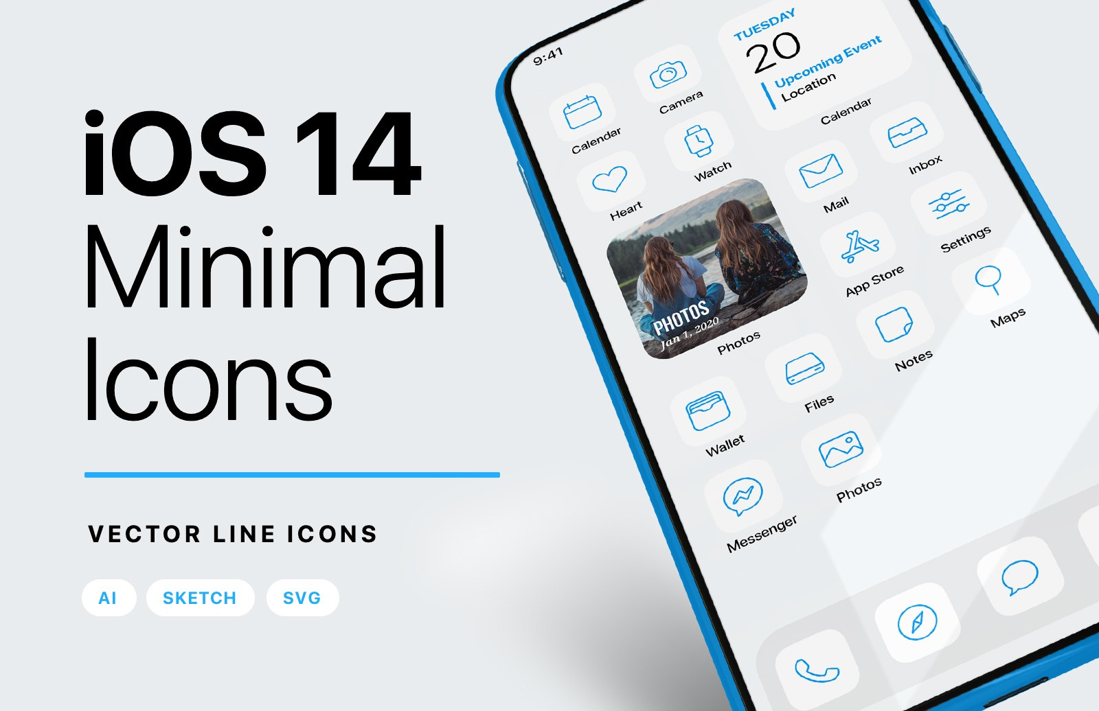 I Os 14 Minimal Icons Preview 1A