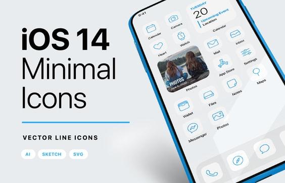 iOS 14 Minimal iPhone Icons