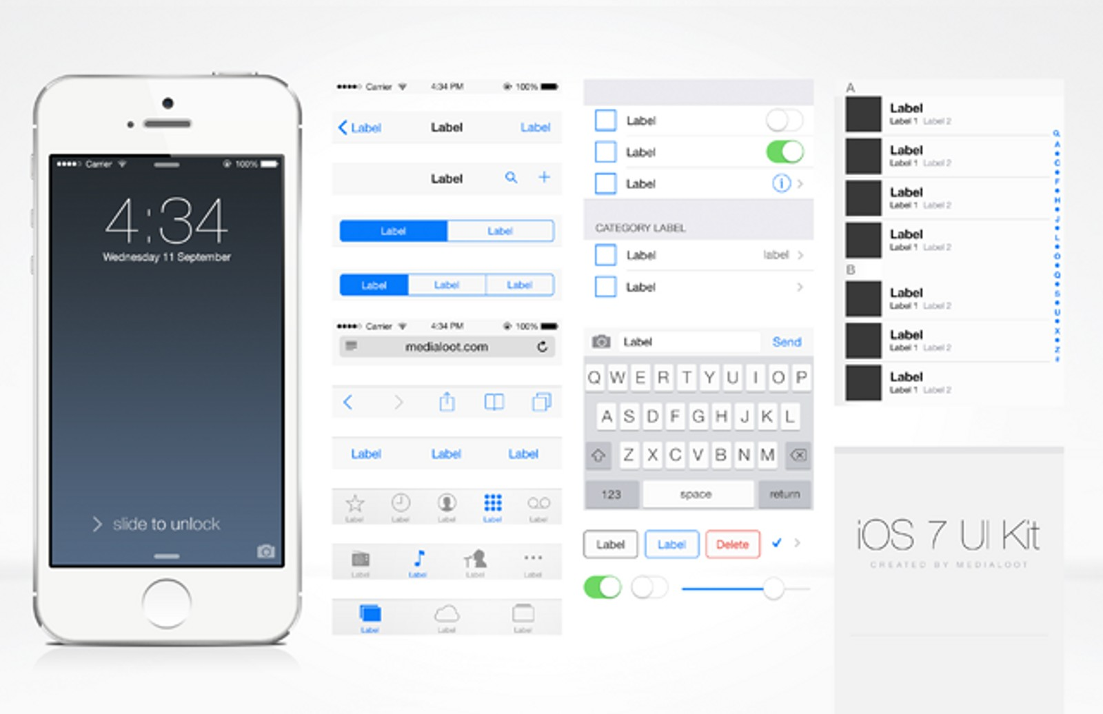 Free iOS UI Kit