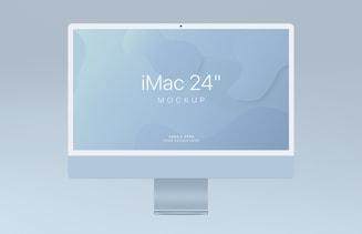 "Free iMac 24"" Mockup (2021)"