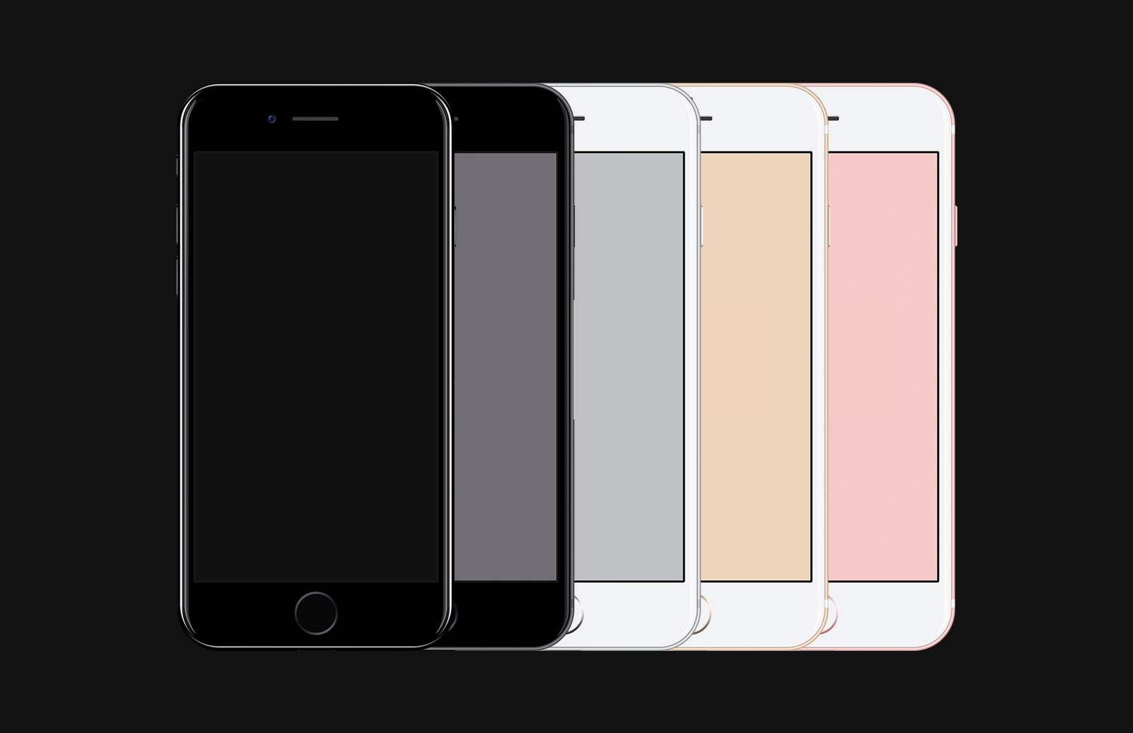iPhone 7 - Free PSD Mockup 2
