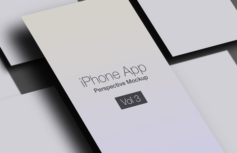 iPhone App Perspective Mockup - Vol 3