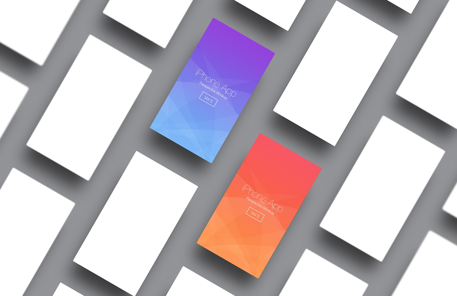 iPhone App Perspective Mockup - Vol 5