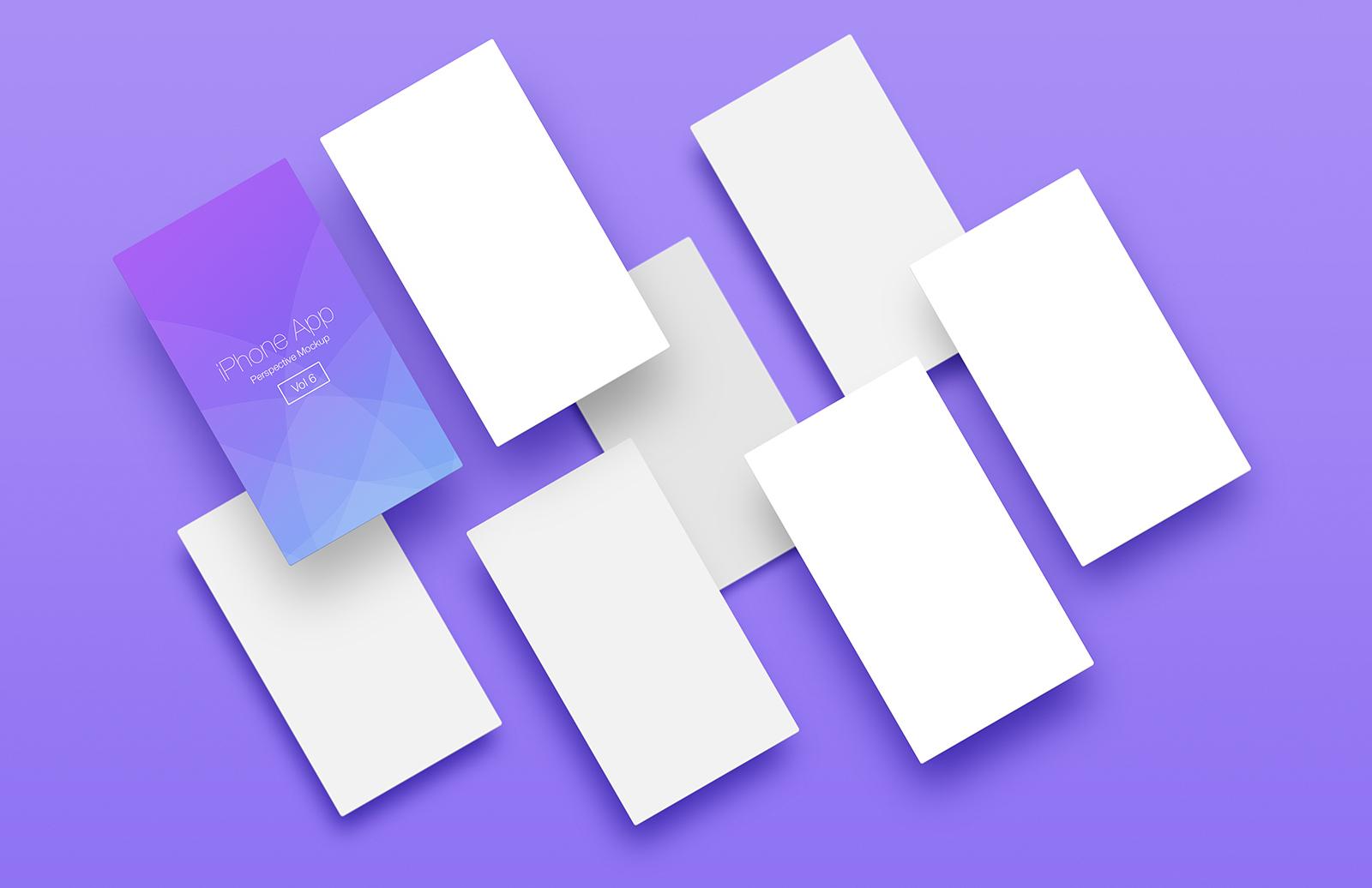 I Phone  App  Perspective  Mockup  Vol 6  Preview 1