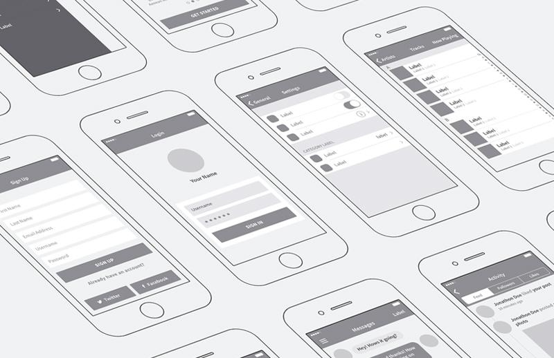 iPhone App Wireframing Kit 1