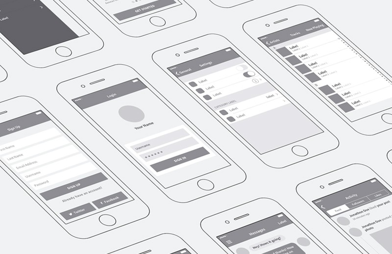 iPhone App Wireframing Kit