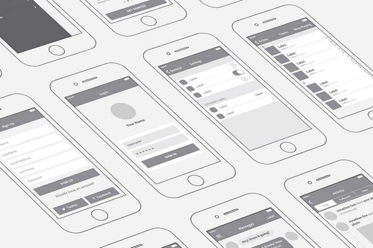 iPhone App Wireframing Kit     Medialoot