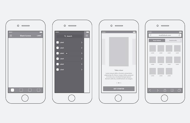 iPhone App Wireframing Kit 2