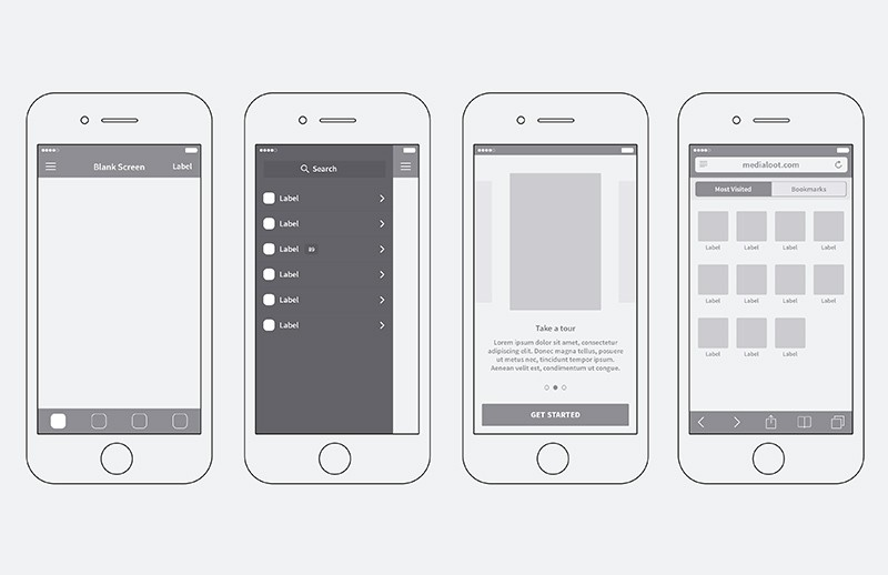 I Phone  App  Wireframing  Kit  Preview 2