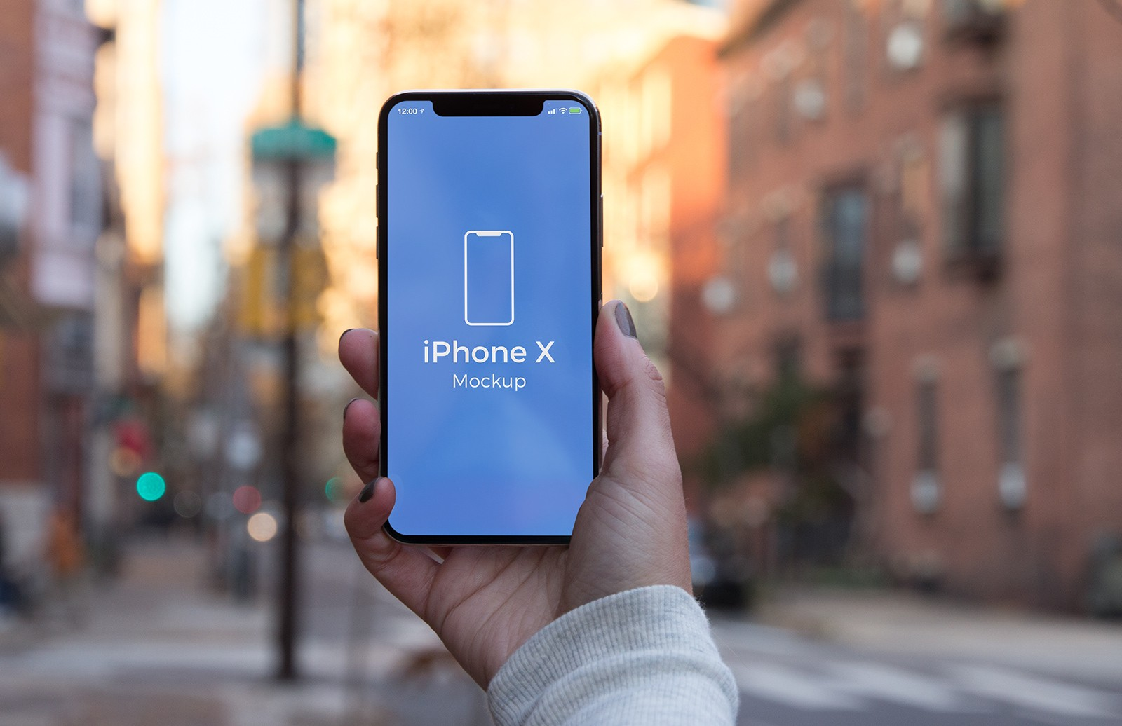 iPhone X In Hand PSD Mockups (Updated)