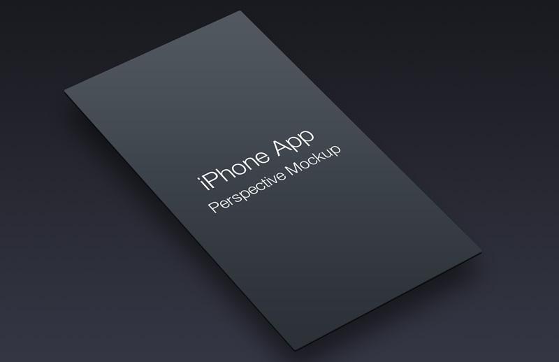 iPhone App Perspective Mockup - Vol 1