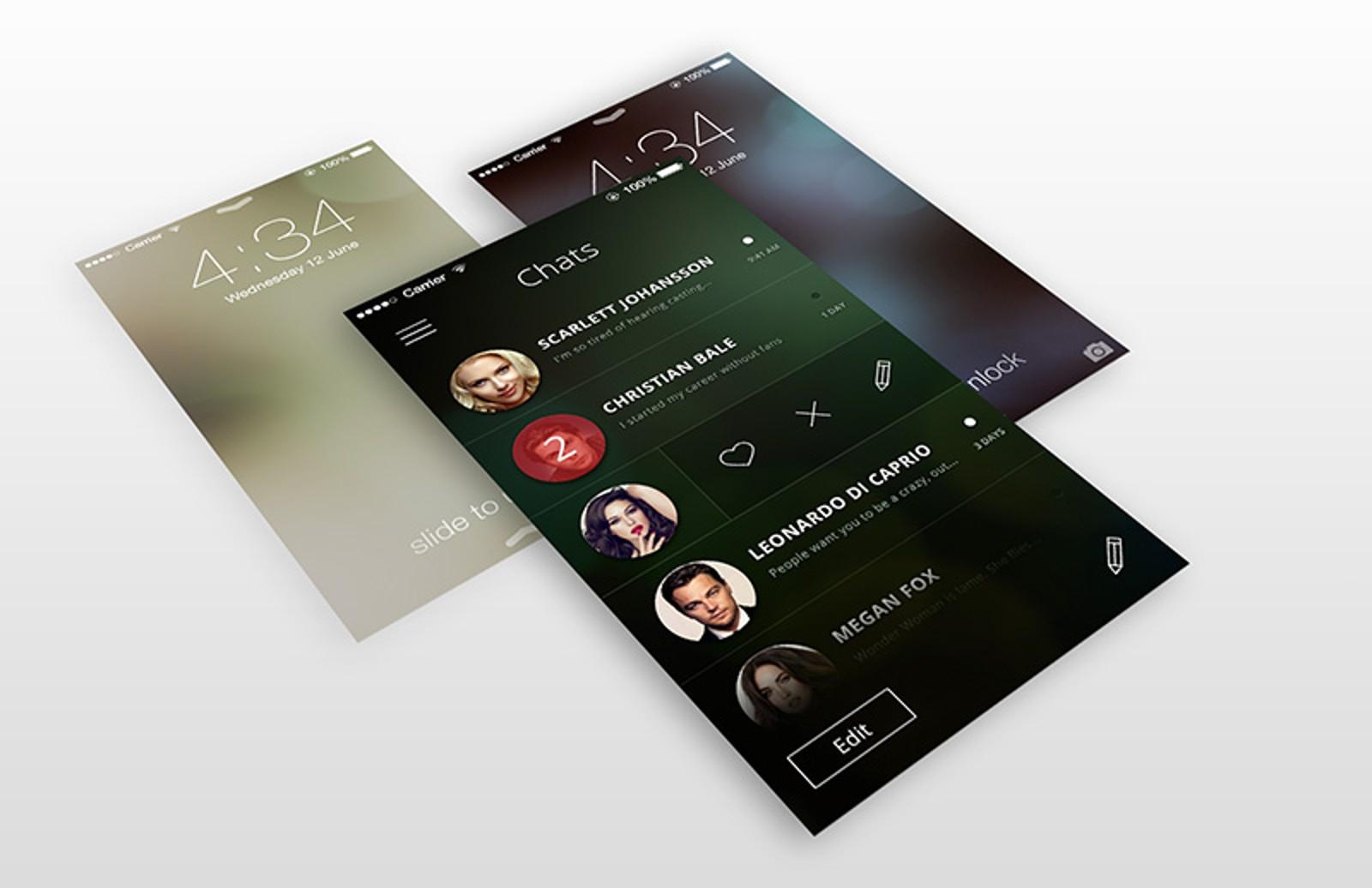 I Phone  Screen Templates 800X518 1