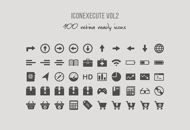 IconExecute Retina Icons vol2