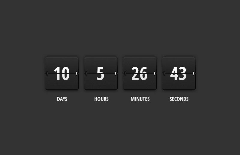 jQuery Flip Clock Countdown Timer