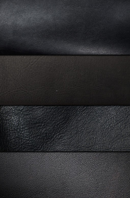 Ultra-Smooth Black Leather Textures