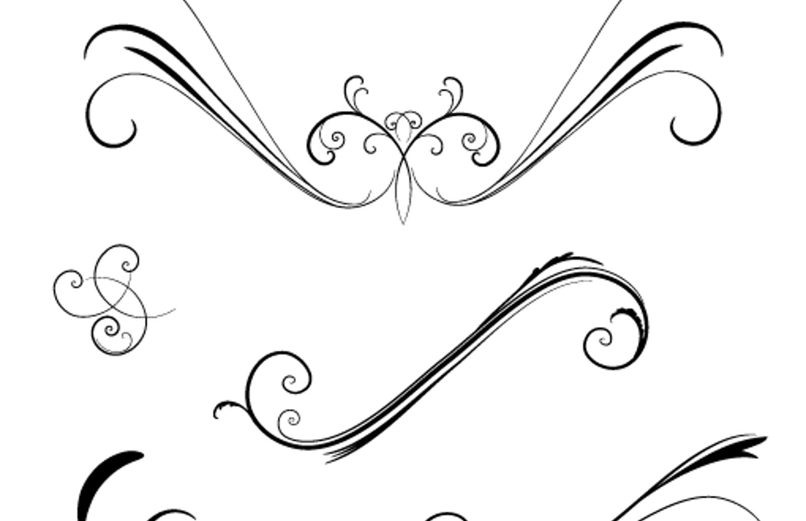 Elegant & Flowery Vector Swirls — Medialoot