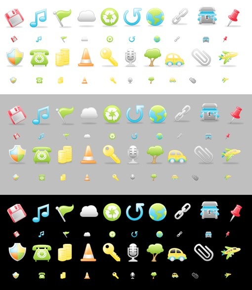 Medialoot Satin Icons Part3 Preview